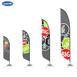 Precio al por mayor publicidad al aire libre con la bandera de la hoja de Polo Blanco