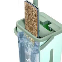 Rotation de la rotation de nettoyage en microfibre Mop Twist Mop magique de godet
