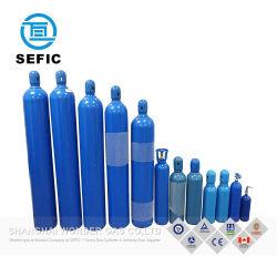 Ossigeno del cilindro 2-80L 200bar 250bar 300bar dell'acciaio senza giunte di ISO9809/DOT/Tped/bombola per gas argon/dell'azoto