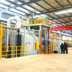 Type de chaîne accumulé le plus récent grenaillage Machine aluminium pour les raccords en fonte malléable avec nettoyage de surface grenaillage conteneur