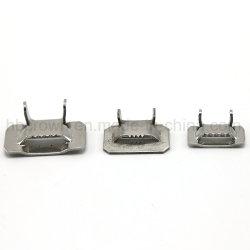 Les dents de haute résistance Verrouiller les clips de baguage en acier inoxydable
