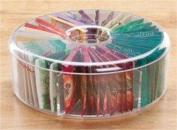 Lucency Boîte ronde en plastique sachet de thé (TV0052)
