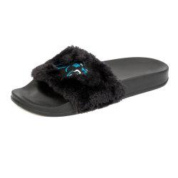 De Pantoffels van het Bont van Faux met Boog Footbed voor Vrouw