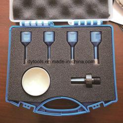 Хорошего качества паяных пластин вакуума Diamond Core сверла наборы инструментов с пластмассовом ящике