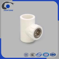 耐熱性PPRのプラスチック管の配管の付属品の女性によって通されるティー中国製