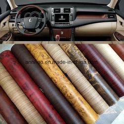 [1.250م] نفس لصوق سيارة ملصق مائيّ داخليّة خشبيّة حبة فينيل