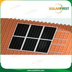 Sistema solare di racking del sistema solare del montaggio del tetto di mattonelle della struttura della lega di alluminio