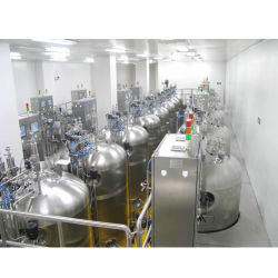 집중된 주스에서 사과 주스 생산 라인