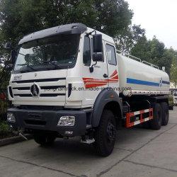 Água de 20 Ton Beiben Bowser caminhão tanque 20000 litros de água petroleiro Caminhão Sprinklers 20 Cbm Pure Tragável caminhão tanque de transporte de Água Limpa