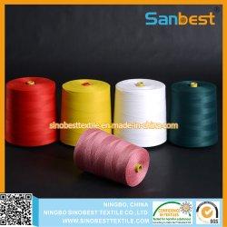 100% poliéster fiadas Bag Fechando Thread em matérias-branco ou misturar cores, 200G-8kg por Cone do Rolamento