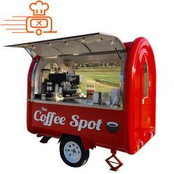 Manufacuturers Europa personalizza il camion mobile crema/rimorchio/carrello degli alimenti a rapida preparazione di /Ice della friggitrice della via BBQ/Snack/Frech del Retro Concession Van Kitchen Outdoor da vendere