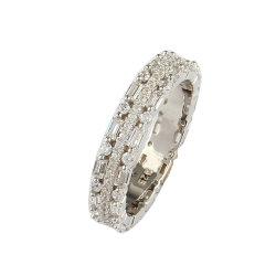 Pierre rectangulaire 925 Sterling Silver série complète de luxe anneau de réglage