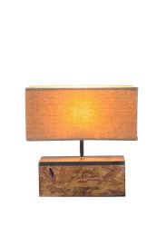 """"""" Tcの陰、家具またはLighting/LEDの照明/Lamp/Decoration/ LED/Bulb/Tripod/の自然な木カラーベース卓上スタンド"""