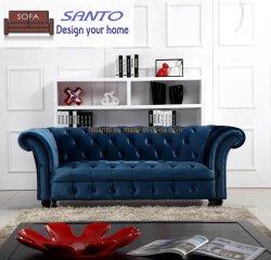 L italiano moderno esquina salón Home Chesterifeld tejido de terciopelo lujoso cuero auténtico marco de madera sofá 1 1 2 3