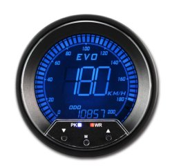 85mm numérique compteur de vitesse GPS Multi écran couleur LCD avec socle de fixation de 12V kmh