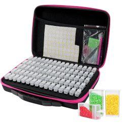 Venda por grosso de pintura de diamante na caixa de armazenamento do vaso Quadrado Maleta furar a Zipper Diamond Bordados Acessórios Kits de Ferramentas