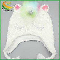 Cappello unisex su ordinazione di inverno del cranio del cappello del Knit del Beanie, Beanies normali poco costosi acrilici del commercio all'ingrosso