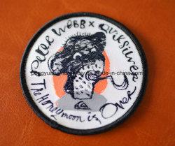 Parche de tejido, insignias de tejido personalizado sobre las tapas de tejido