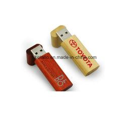 목재 재활용 USB 드라이브 목재 하우징 USB 플래시 드라이브 포함 환경 친화적인 케이스