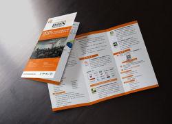 Opuscolo promozionale di carta comune di stampa del dispositivo di piegatura di buona qualità