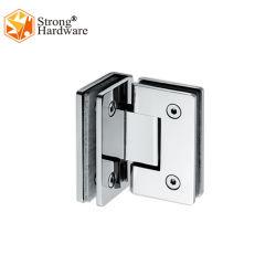 Regla 90grados cuarto de baño de doble apertura de la abrazadera de vidrio de la bisagra de ducha