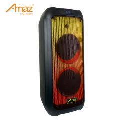 """De """" draagbare Spreker van Bluetooth van het Karretje van de Partij van de Muziek van de Hoge Macht van Spreker dubbele 8 Openlucht met het Licht van de Vlam"""