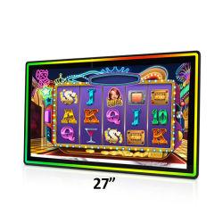 27 inch Open Frame Flat Multiple Touch sensor Screen Film LCD Display 4K 16: 9 FHD LED Monitor met LED Bar aan de voorzijde voor slot Roulette Casino Gaming machine