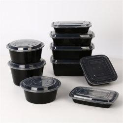BPA 불포함 전자레인지 일회용 음식 용기 플라스틱 도시락을 꺼냅니다 박스 누출 방지