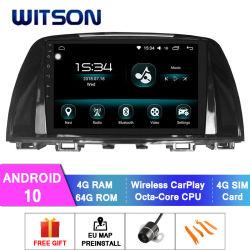 Android Witson 10 Multimedia player carro para 2014-2016 Mazda Mazda 6 4 GB de RAM 64GB Flash grande ecrã no aluguer de DVD
