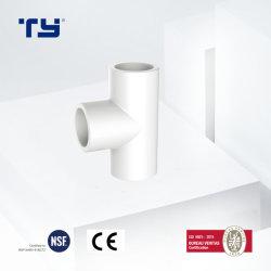 Pn de PVC-U10 de tuberías de presión de los racores de tubo en T de la reducción de la norma ISO1452 OEM Tianyan lección