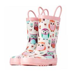 فتاة في إس المطر أحذية أمان مقاومة للماء للأطفال أحذية المطر الأحذية