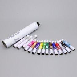 فنّان صبغ [أيل بينتينغ] لون يخلو ألومنيوم قابل للانهيار يعبّئ أنابيب