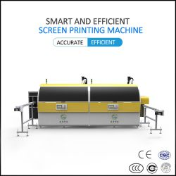 Zwei Farbe Bildschirm-Drucker-Silk Bildschirm-Drucken-Maschine /Press für den Umlauf das zylinderförmige für Verkauf