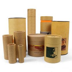 Tubo cosmetico del Kraft di orlo di Firstsail Eco del contenitore biodegradabile amichevole del balsamo che impacca intorno alla casella di carta per l'alimento del manifesto del regalo del tè