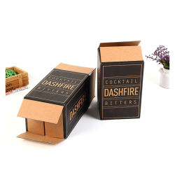 공급자 주문 칵테일 골판지 포도주 패킹 판지 상자를 위한 크기에 의하여 인쇄되는 브라운 Kraft 종이 포장 상자