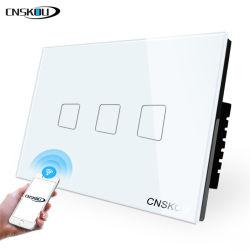 Us/au verre en cristal Standard 3gang Tuya Ewelink APP Smart Switch WiFi Contrôle vocal