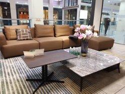 中国の製造業者は現代家の反響室木の家具の余暇をカスタマイズする 革製ソファ