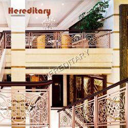 호텔 로비 장비를 위한 스테인레스강 가드레일이 있는 로비 계단