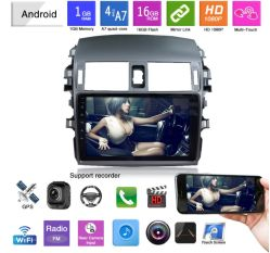 9-дюймовый сенсорный экран Full HD 1080P Mirrolink видео системы навигации GPS для автомобилей старого Corolla
