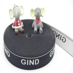 Kundenspezifische des Firmenzeichen-Nachahmung-Nylonjacquardwebstuhl-Gummiband-gewebtes Material breit 40mm