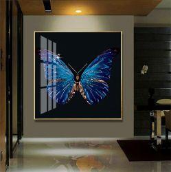 [ألومينوم لّوي] إطار بلّوريّة خزف صورة فراشة زرقاء يعيش غرفة غرفة نوم رواق زخرفة صورة يعلّب صورة