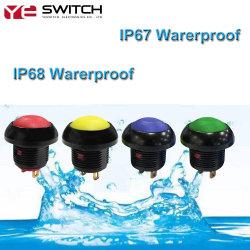 IP68 IP67는 철사를 가진 전자 LED에 의하여 분명히된 누름단추식 전쟁 순간 누름단추식 전쟁 스위치를 방수 처리한다