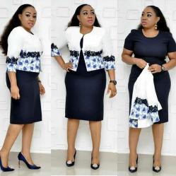 África al por mayor baratos ropa casual mujer traje de vestir Dama de la Oficina de Negocios vestido de gran tamaño Plus Size