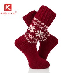 Los Red Sox Hand-Knitted calcetines calcetines de lana tejidas tejer a mano
