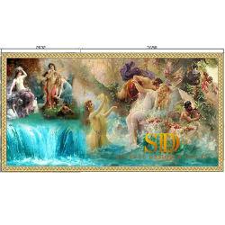 Personnalisé magnifique vitrail mosaïque européenne peinture sur verre Designs pour Big Wall décor dans la salle de bains