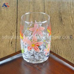 dekoratives trinkendes Glas-Tafelgeschirr der vollständigen Blumen-245ml