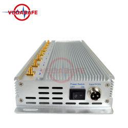 Zilveren Kleur 8 Blokkerende Apparaat van het Netwerk van WiFi van Kanalen 2.4G het Blokkerende met Blocker van het Netwerk van maximaal 40m Blokkerende Mobiele