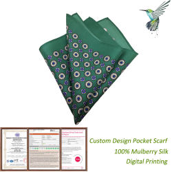 China Pañuelo de seda al por mayor de la impresión de la fábrica de alta calidad pañuelo de bolsillo de los hombres