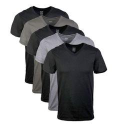 Custom Blank V-Ausschnitt T-Shirts Herren Bambus Kleidung Großhandel