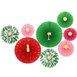 Set 8 confezione di Fan Fiore Origami Fan Flower